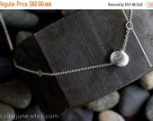 Valentines Day Sale Sterling Silver Necklace   Single Pebble Necklace
