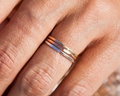 Valentines Day Sale The Trio |Thin Band Set | Stacking Rings | Handcrafted Rings