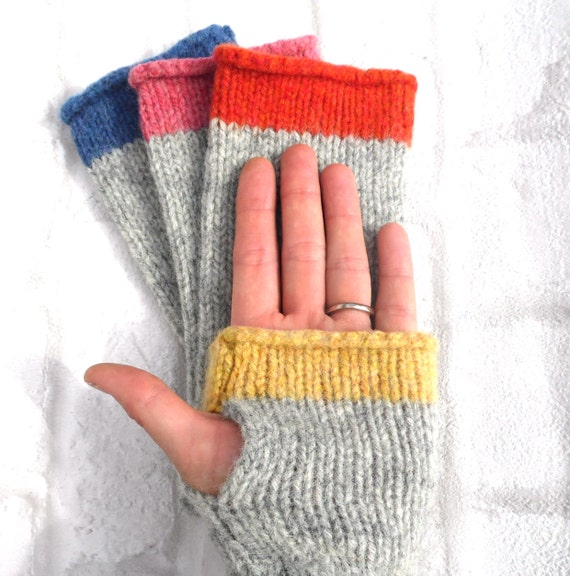 Fingerless Gloves Knitting Pattern Beginner : Fingerless Gloves Knitting Kit