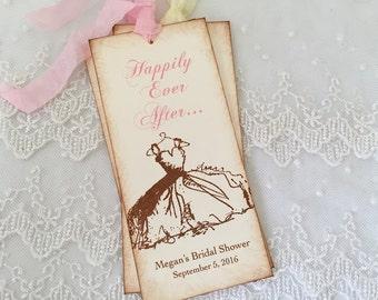 Happily Ever After Bookmarks Bridal Shower Favors Wedding Shower Dress Set of 10