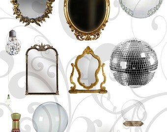 Enchanted  Collage Sheet   - You Will Get a Jpeg Sheet and PNG Images