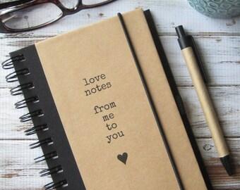 Love Journal, Fiance Gift, Notebook, Boyfriend Gift, Girlfriend Gift, Couples Gift, Love Notes
