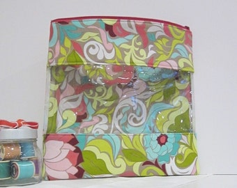 Grab & Go Zipper Bag Pouch Extra large Cosmetics Travel Craft Storage
