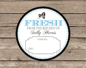 Waterproof canning stickers, personalized cooking and baking stickers, jar labels, cooking labels, from the kitchen of set of 9- classic