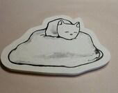 Peapod cat on a cloud