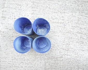 Blue porcelain tumbler