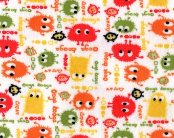 HARVEST Ooga Booga MINKY Fabric, By The FQ