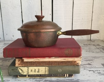 Vintage Tagus Copper Pan - Small - Portugal - Wooden Handles