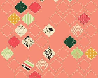 25% OFF Fancy And Fabulous Loving Life Coral - 1/2 Yard