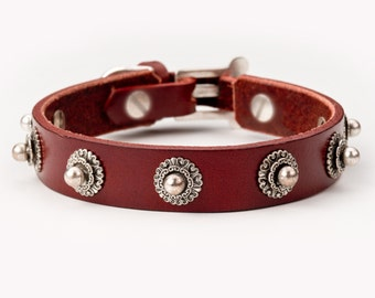 Cha Cha leather dog collar