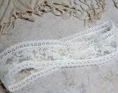 Vintage Lace Headband, Ivory Lace Hairband, Ivory Hairband, Bridal Hairband,Lace Hairband