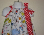 Dr Seuss Character Toss  Pillowcase Dress, Sizes 3M  up to 7 years