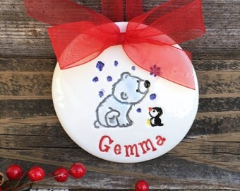 Sweet Friends Christmas Ornaments -  Personalized Ceramic Ornament - 2017 Ornament - Xmas Ornament - Holiday Ornament - Tree Ornament