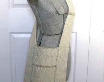 Handwoven Shoulder Bag .  Woven Wool Bag . Oatmeal Woven Bag. wide strap bag . woven shoulder bag