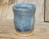 Pottery Tumbler in Blue Green