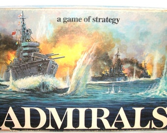Vintage Admirals Board Game 1972 Parker Brothers Family Game of Strategy