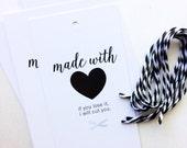 Knitting Gift Tag - Knit Care Tag - Snarky Gift Tag - Set of 5 Tags - I'll Cut You
