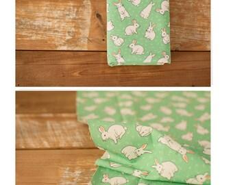 4070 - Retro Bunny Cotton Linen Blend Fabric - 59 Inch (Width) x 1/2 Yard (Length)
