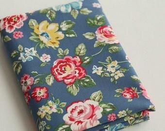 4083 - Cath Kidston Rainbow Rose (Blue) Cotton Canvas Fabric - 57 Inch (Width) x 1/2 Yard (Length)