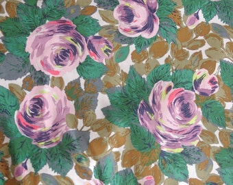 4104 - Cath Kidston Oxford Rose (Offwhite) Cotton Fabric - 53 Inch (Width) x 1/2 Yard (Length)