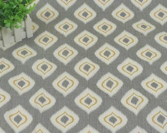 4144 - P Kaufmann Abstract Pattern (Light Grey) Cotton Canvas Fabric - 55 Inch (Width) x 1/2 Yard (Length)