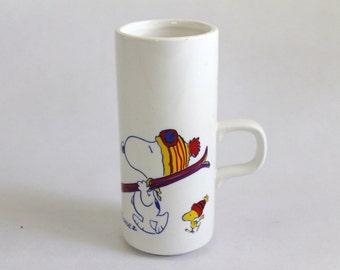 Peanuts Snoopy Ski Vase / Mug