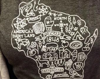 Everything Wisconsin  - Women's Crew Neck