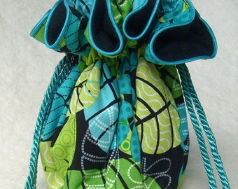 Anti Tarnish Jewelry Bag Pouch in Tropical Cool
