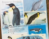 P is for Penguin Vintage Antarctica Collage, Scrapbook and Planner Kit Number 1963