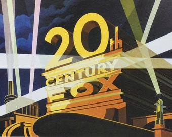 20th Century Fox Vintage Movie Frame Worthy Original Illustrated Book Page