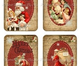Instant Download  - Postcard Christmas - High quality digital full size sheet - Printable Download -  Hang Tags - Crafts