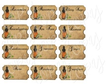 Instant Download  - Essential Oil Labels - High quality - Printable Download