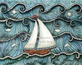 "8.5""x11"" PRINT On The Sea by Leslie Berg"