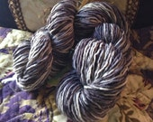 Nightmare hand dyed vegan cotton blend recycled yarn approx 108 yds