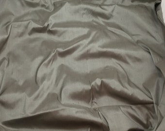 MEDIUM GRAY Silk DUPIONI Fabric - fat 1/4