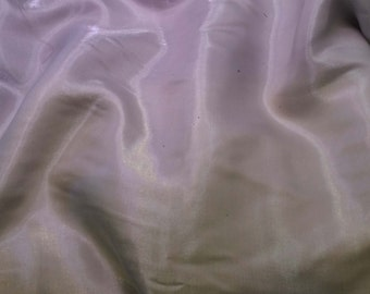 Faux Silk CHARMEUSE Satin Fabric Iridescent SILVER GRAY 1/4 Yard