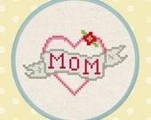 Sweet Mom Tattoo. Cross Stitch Pattern PDF Instant Download