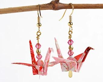 Pink earrings for sister| Pink Xmas earrings| Wife pink jewelry| Girlfriend jewelry idea| Earrings birthday gift for mother