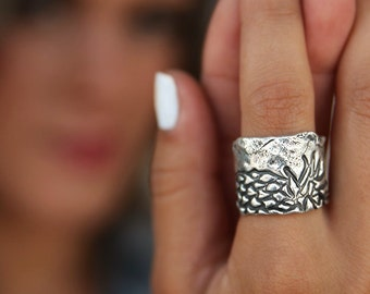 Statement Jewelry, Statement Ring, Sterling Silver Statement Jewelry, STERLING SILVER Statement Ring, Chunky Ring Wide Band Ring Wide Ring