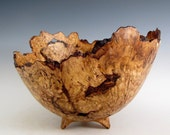 Rustic Oak Burl Wood Turned Bowl - Housewarming Gift - Wedding Gift- Hand Made Wood Bowl - Artistic Wood Bowl - Wooden Centerpiece