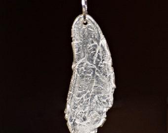 Fine Silver Pendant: Organically Textured