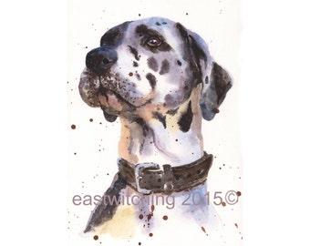 Watercolor Dog PORTRAIT, pet portrait, watercolour painting, animal paintings, original, dog portrait