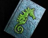 Green Seahorse Blank Sketchbook Journal