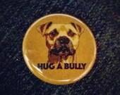 Bottle Opener Keychain or Magnet - Hug A Bully - American Pit Bull Terrier Pitbull Dog Lover Pibble Bully Breed Beer Opener Key Chain