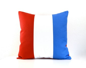 Nautical Flag Pillow Cover 16 Inch - The Letter T - Organic Cotton Canvas