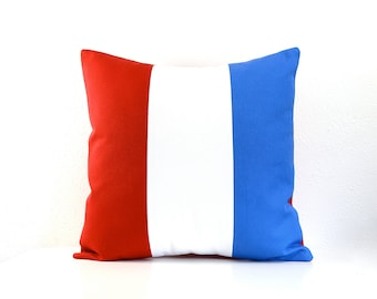 Nautical Flag Pillow 16 Inch - The Letter T - Organic Cotton Canvas