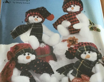 Simplicity 5305 Craft Pattern. snowman doll, u cut