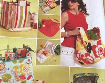 Butterick 5338 Foldable Grocery Bag s and Purses Pattern Handbag