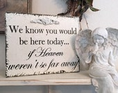 In Memory Of Sign, Wedding Memorial Sign, Memory Table Sign, We know you would be here today...if Heaven weren't so far away, 8 x 10