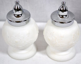 Vintage Imperial Glass Set of Salt and Pepper Shakers - Rose